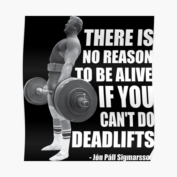 There Is No Reason To Be Alive If You Can't Deadlift Poster