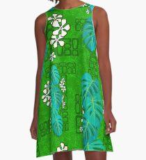 Tiki Garden Wall - green A-Line Dress