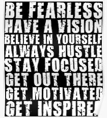 Fearless Motivation Posters | Redbubble
