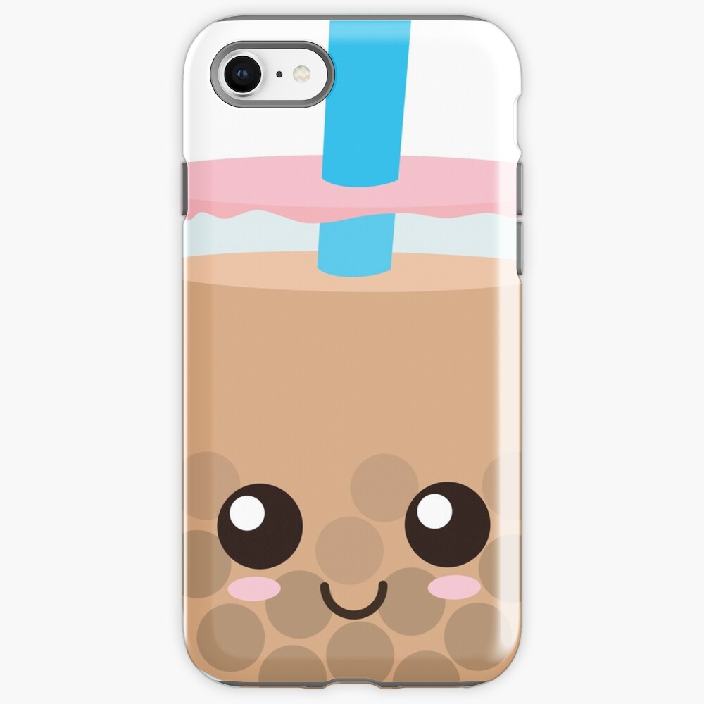"""""""Happy Boba"""" iPhone Case & Cover by EmoryArt   Redbubble"""