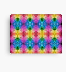 Rainbow Chrysanthemum Pattern Canvas Print