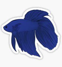 Blue Veil Tail Betta Fish Sticker Sticker