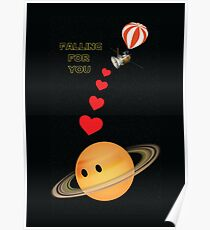 Cassini falling for Saturn: The Grand Finale Poster