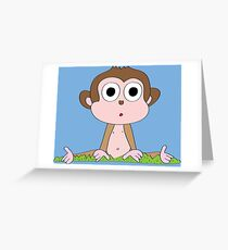 Cartoon Monkey  Greeting Card