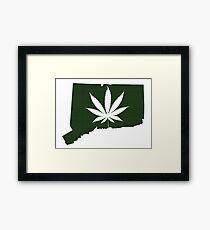 Marijuana Leaf Connecticut Framed Print