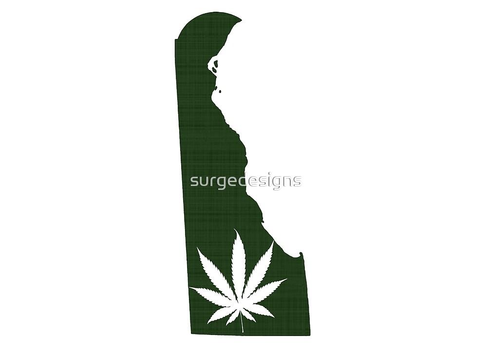 Marijuana Leaf Delaware by surgedesigns