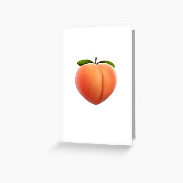 Pfirsich Emoji Grußkarte