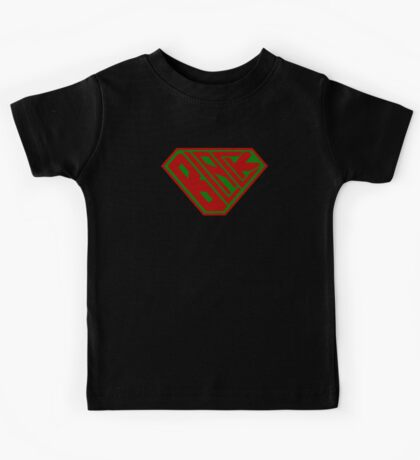 Black SuperEmpowered (Red and Green) Kids Clothes