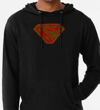 Black SuperEmpowered (Red and Green) Lightweight Hoodie