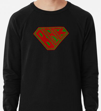 Black SuperEmpowered (Red and Green) Lightweight Sweatshirt