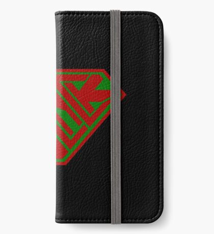 Black SuperEmpowered (Red and Green) iPhone Wallet
