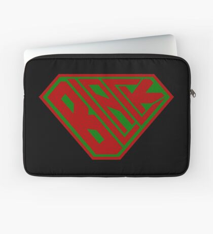 Black SuperEmpowered (Red and Green) Laptop Sleeve