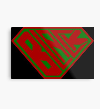 Black SuperEmpowered (Red and Green) Metal Print