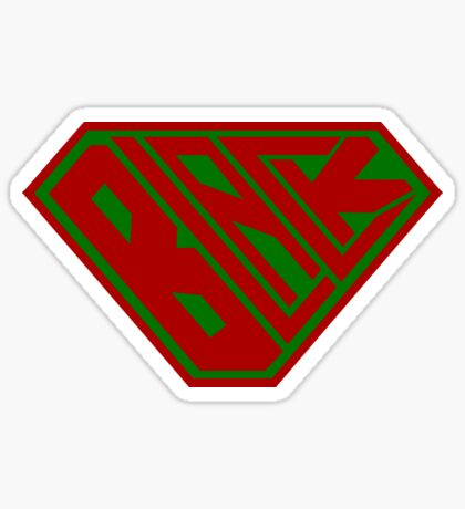 Black SuperEmpowered (Red and Green) Sticker