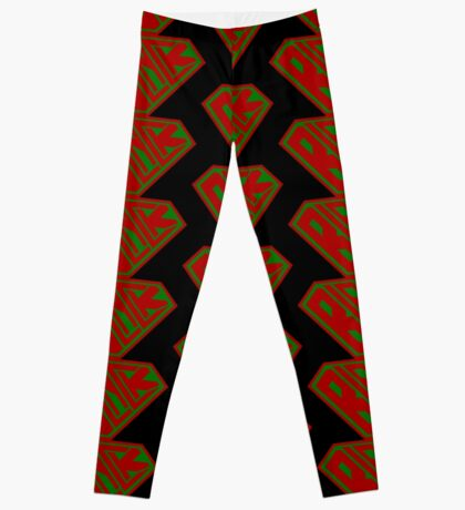 Black SuperEmpowered (Red and Green) Leggings