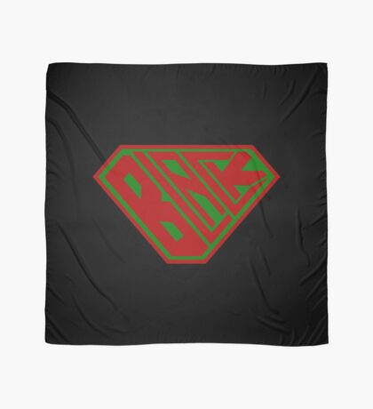 Black SuperEmpowered (Red and Green) Scarf