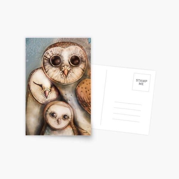 three wise owls Postcard