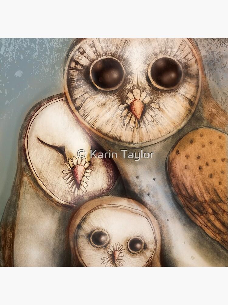 three wise owls by karin