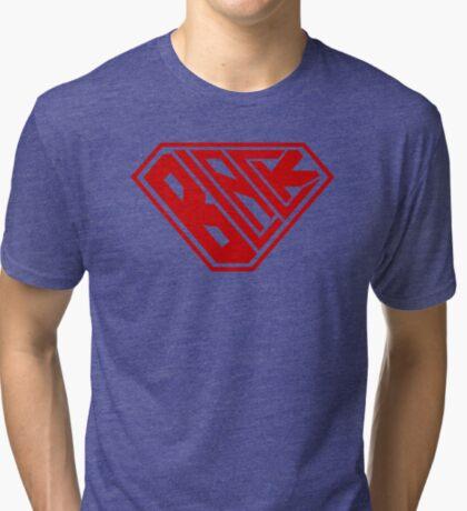 Black SuperEmpowered (Red) Tri-blend T-Shirt