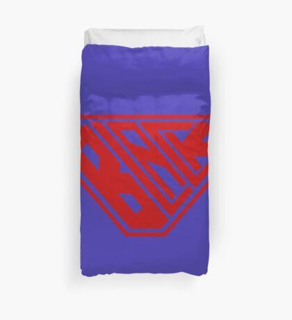 Black SuperEmpowered (Red) Duvet Cover