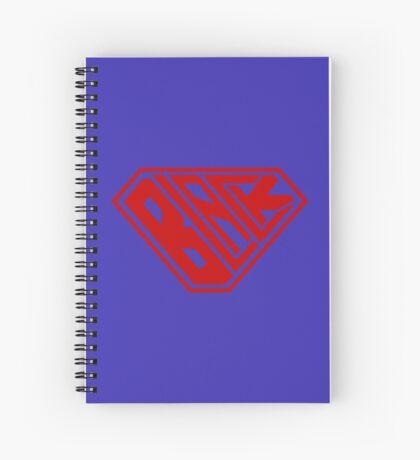 Black SuperEmpowered (Red) Spiral Notebook