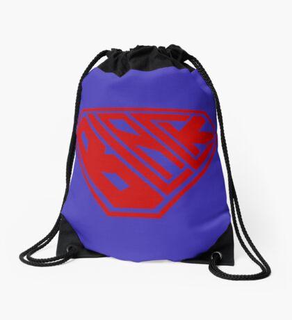 Black SuperEmpowered (Red) Drawstring Bag