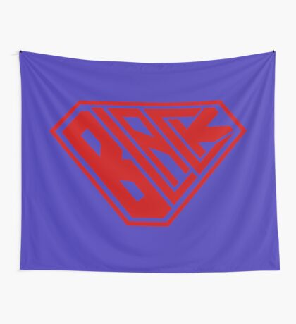 Black SuperEmpowered (Red) Wall Tapestry
