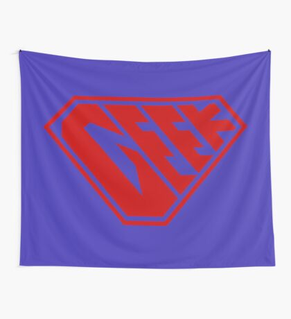 Geek SuperEmpowered (Red) Wall Tapestry