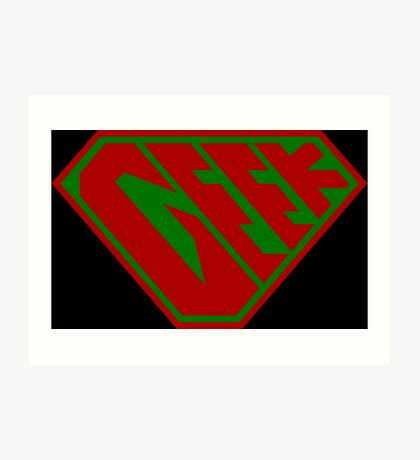Geek SuperEmpowered (Red and Green) Art Print