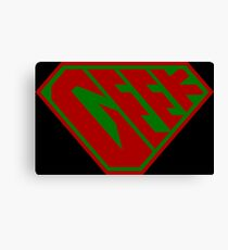 Geek SuperEmpowered (Red and Green) Canvas Print