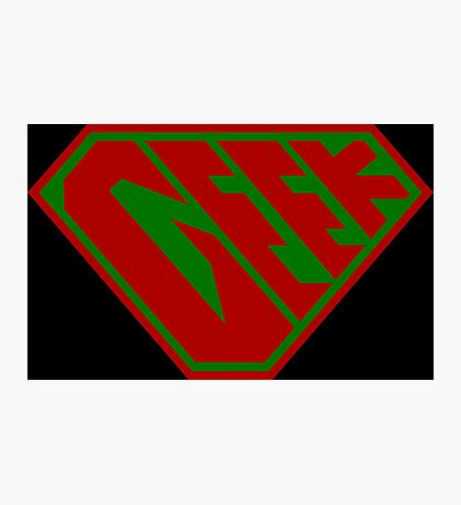 Geek SuperEmpowered (Red and Green) Photographic Print