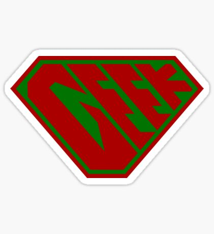 Geek SuperEmpowered (Red and Green) Sticker