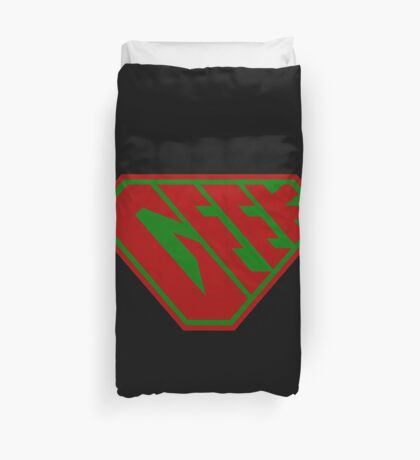 Geek SuperEmpowered (Red and Green) Duvet Cover