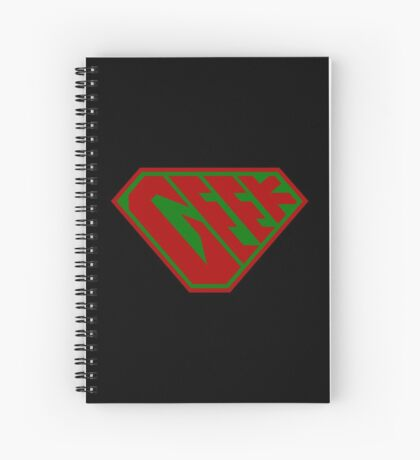 Geek SuperEmpowered (Red and Green) Spiral Notebook