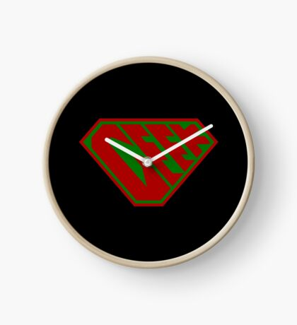 Geek SuperEmpowered (Red and Green) Clock