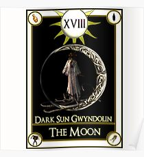 Dark Sun Gwyndolin The Moon Tarot Card  Poster