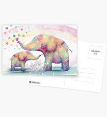 Postales afecto de elefante