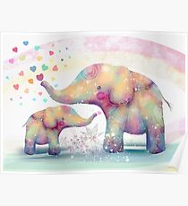elephant affection Poster
