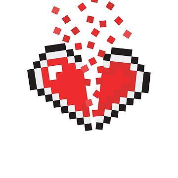 8 Bit Heart Break by chilipenguin