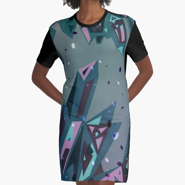 Crystallize Graphic T-Shirt Dress