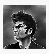 Tenth Doctor David Tennant Doctor Who Fluffy Hair Glasses Photographic Print