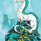 Ghibli Studios - Haku the Dragon - Spirited Away by michelledraws