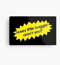 Nosey Little Bugger Aren't You? Metal Print