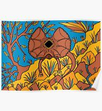 Goolaman - (frilled lizard) irralb season (autumn) Poster