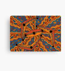 Irrgil/Marrga - (boomerang & shield) lalin season (summer) Canvas Print