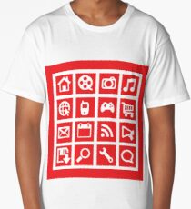 web icon graphics (red) Long T-Shirt