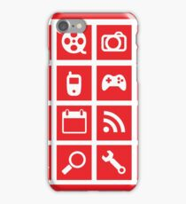 web icon graphics (red) iPhone Case/Skin