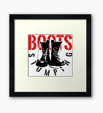 BOOTS STOMPING Framed Print