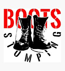 BOOTS STOMPING Photographic Print