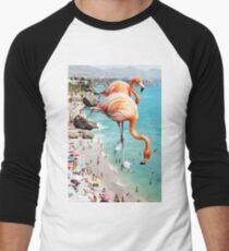 Flamingos am Strand #redbubble #decor Baseballshirt für Männer